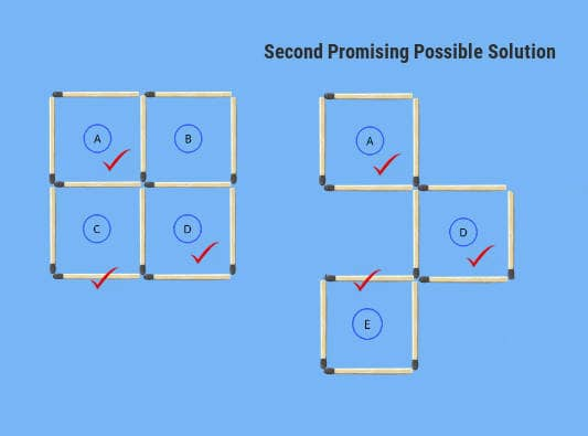 2nd comparison problem figure possible solution 3 squares in 3 moves puzzle