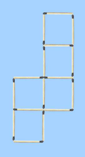 5 square to 4 square matchstick puzzle