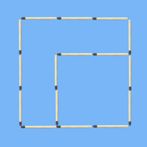5 squares to 2 squares in 8 stick moves fourth probable solution