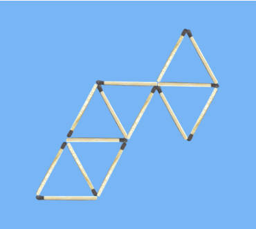 6 triangle matchstick puzzle 1