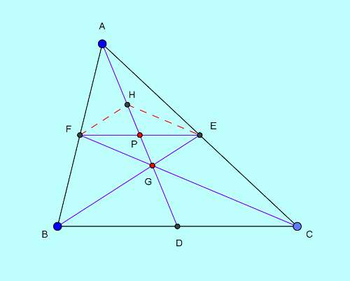 Basic and rich Geometry concepts part 6-4 triangle area division by median proof