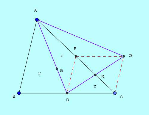 Basic and rich Geometry concepts part 6-5-2 area of triangle from medians proof