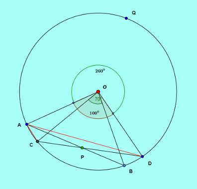 Basic and rich geometry concepts part 4 problem proof arc angle subtending