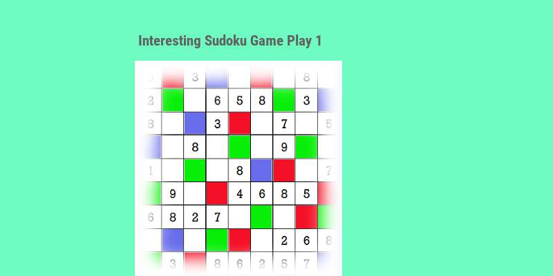 Interesting Sudoku game play 1 top