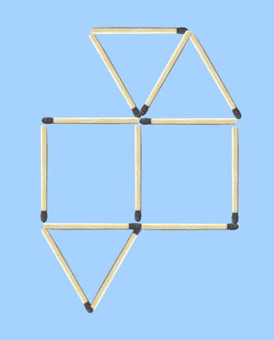 Move 1 to make 5 regular shapes