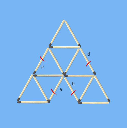 Remove-2-sticks-to-leave-6-triangles-number-of-solutions