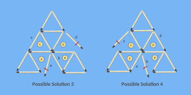 Remove-2-sticks-to-leave-6-triangles-possible-solutions-3-4