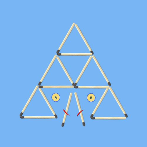 Remove-2-sticks-to-leave-6-triangles-solution-1