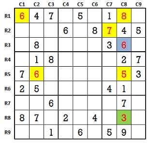 Sudoku second level game-1-3