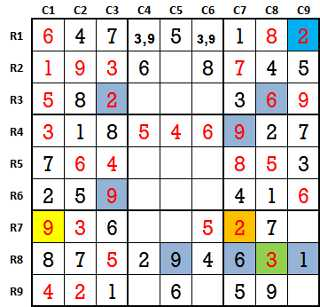 Sudoku second level game-1-7