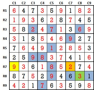Sudoku second level game-1-solved