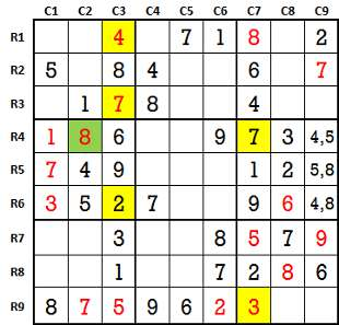 Sudoku second level game-2-4