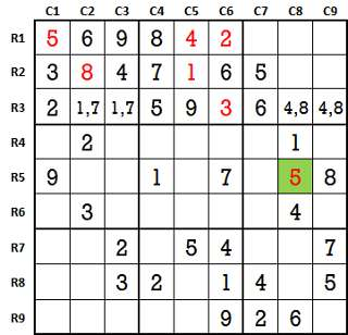 Sudoku second level game 3-3