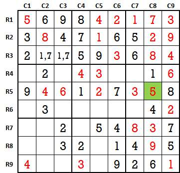 Sudoku second level game 3-5
