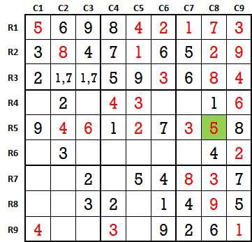 Sudoku second level game 3-5