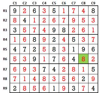 Sudoku second level game 4-5 solved
