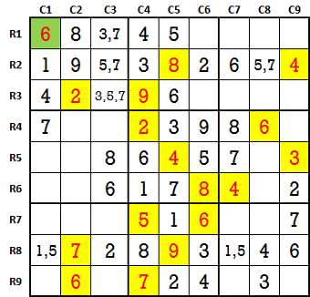 Sudoku second level game-5-2