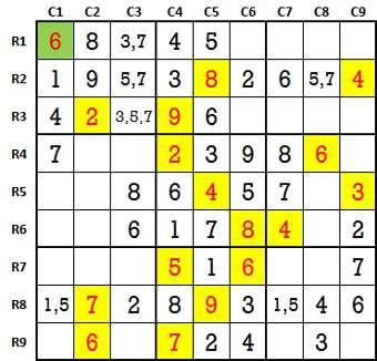 Sudoku second level game-5-2