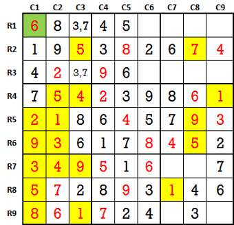 Sudoku second level game-5-3