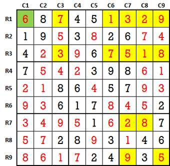 Sudoku second level game-5-4-solved