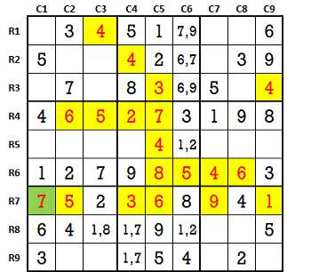 Sudoku second level game 6-2
