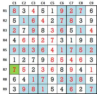 Sudoku second level game 6-3-solved