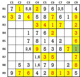 Sudoku second level game 8-2
