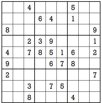 Sudoku second level game 9-1