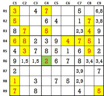 Sudoku second level game 9-2