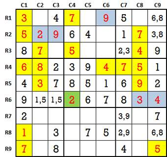 Sudoku second level game 9-3