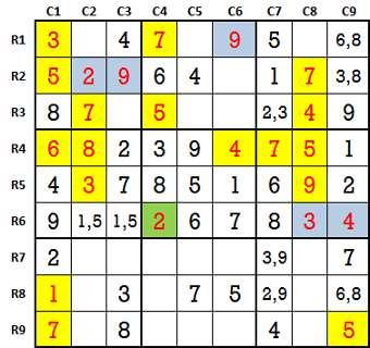 Sudoku second level game 9-3
