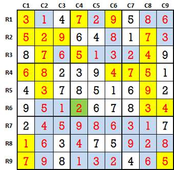 Sudoku second level game 9-4-solved