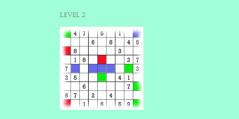 Sudoku second level game play 1