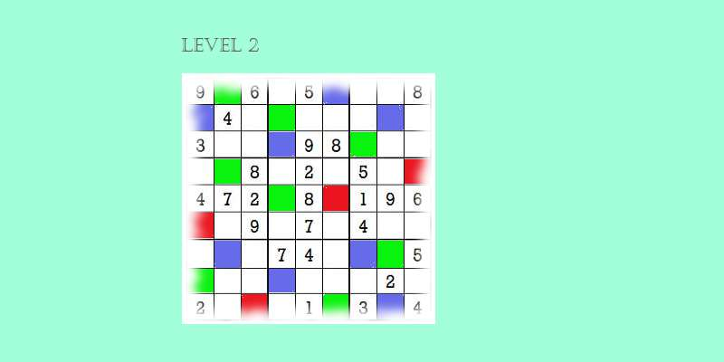 Sudoku second level game play 4