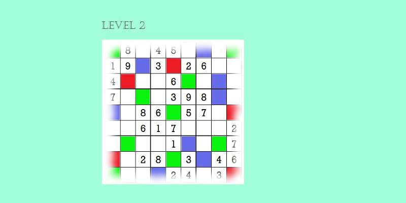 Sudoku second level game play 5