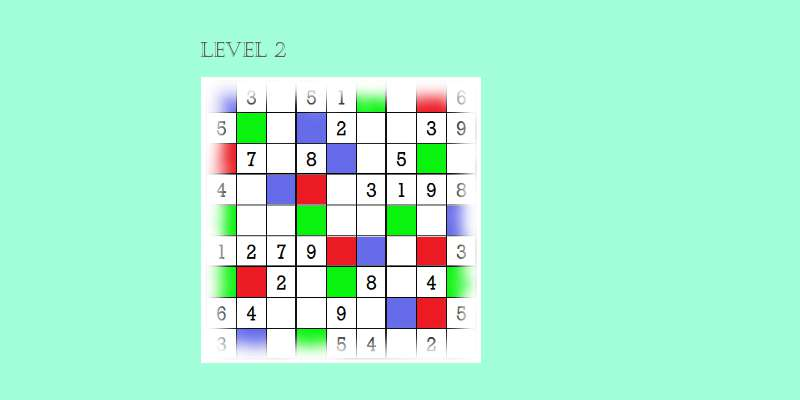 Sudoku second level game play 6