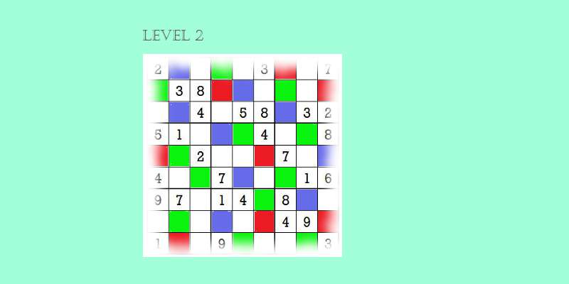 Sudoku second level game play 7