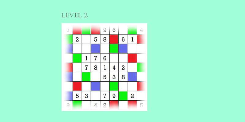 Sudoku second level game play 8