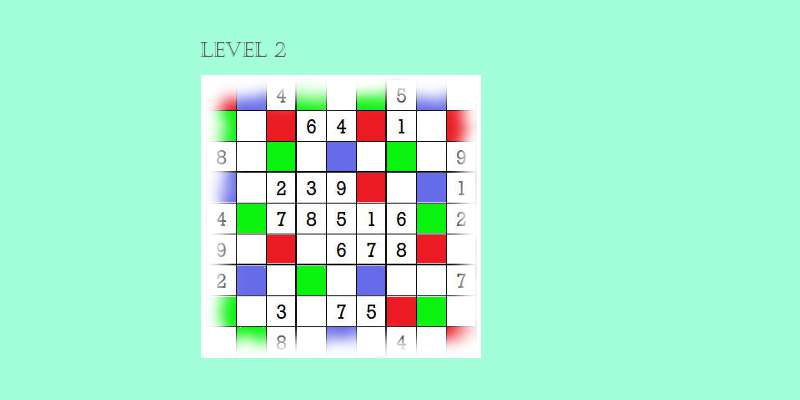 Sudoku second level game play 9