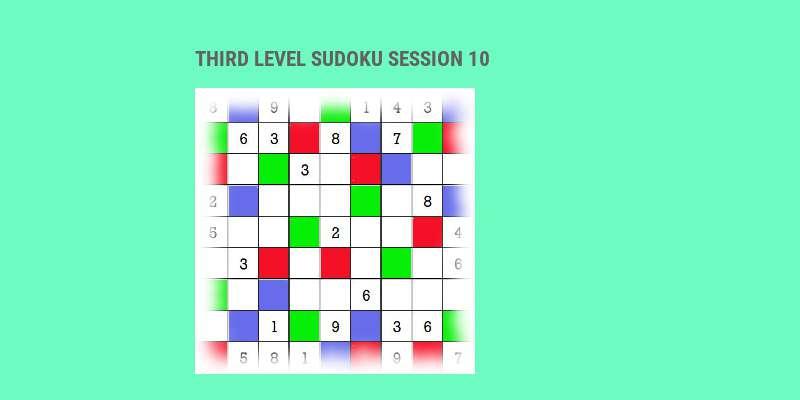 Sudoku third level game play 10