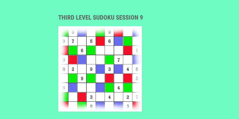 Sudoku third level game play 9