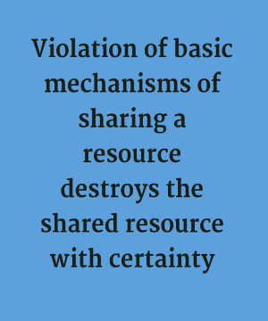Violation of sharing resource