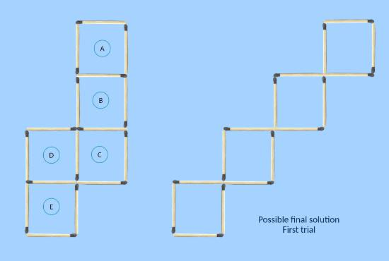 comparing with possible final solution first trial