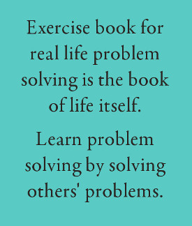 Exercise book of real life problem solving
