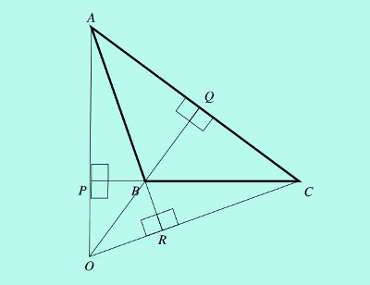 external orthocenter of a triangle