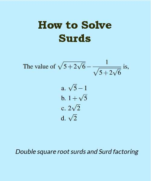 how-to-solve-surds-part-2-double-square-root-surds