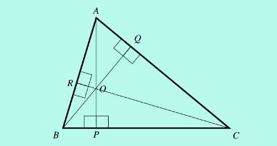 internal orthocenter of a triangle