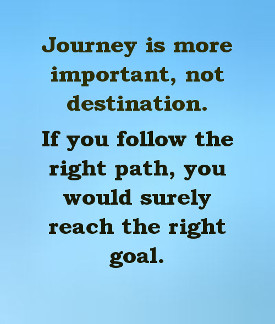 Journey more important