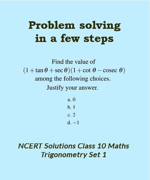 ncert solutions class 10 maths trigonometry set 1