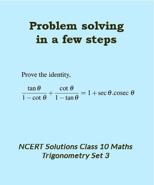 ncert solutions class 10 maths trigonometry set 3